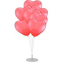Kidspartim 7 'li Balon Stand Demeti Kırmızı Kalpi Balon