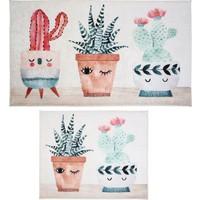 Hepsi Home Kaktüs Dekoratif Banyo Paspas