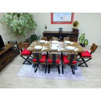 NtConcept Masif Ağaç Yemek Masası Düz Kenar - MYM00455