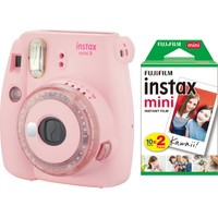 Fujifilm Instax Mini 9 Toz Pembe Limited Edition Fotoğraf Makinesi 20'li Film