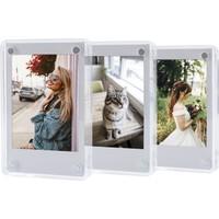 Fujifilm Instax Mini Film Uyumlu Mıknatıslı Pleksi Resim Çerçevesi 3'lü