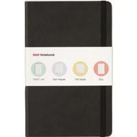 Matt Notebook Lastikli Defter Düz 13 x 21 cm Siyah