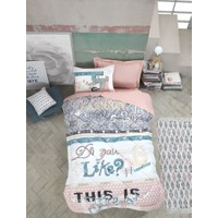 Cotton Box Genç Odası Tek Kişilik Uyku Seti Fashion Pudra