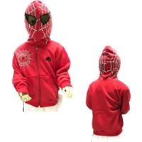 Gigas Örümcek Adam Kapşonlu Maskeli Hırka