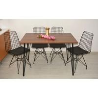 Riş Mobilya Cemre Mutfak Masa Takımı , Tel Masa Tel Sandalye , Mutfak Masası