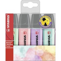 Stabilo Boss Original Pastel Renk Fosforlu Kalem 4'lü Paket