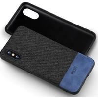 Mofi Apple iPhone X Kumaş TPU Kılıf Mavi