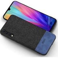 Mofi Xiaomi Mi 9 Kumaş TPU Kılıf Mavi