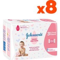Johnson's Baby Hassas 3 x 72 x Islak Mendil 8'li Set