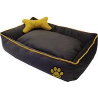 Miu Kemik Yastıklı Tay Tüyü Köpek Yatağı 12 x 65 x 85 cm Gri