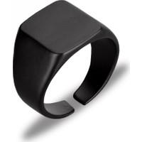 Apptakı Mat Siyah Erkek Yüzük - YÜZ0060