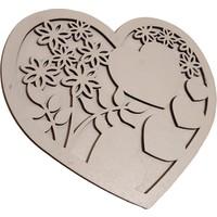Oteberry Kalp Dekoratif Duvar Dekoru -Duvar Panosu