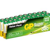 Gp Süper Alkalin Aa/lr6 Boy Kalem Pil 20'li Paket