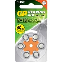 GP 6'lı ZA13 1.4V Düğme Kulaklık Pili (GPZA13-D6)