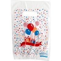 Hoşgör Plastik El Geçme Blok Poşet Eczane Poşeti Balonlu Beyaz 15x25 Koli:5000