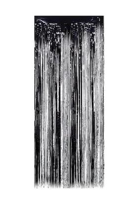 Duvar Saçağı Gümüş&siyah 1m*2m