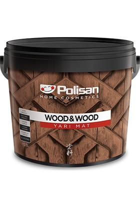 Polisan Wood & Wood Anti Aging Ahşap Verniği Yarımat Su Bazlı 0,75 lt Kestane Rengi