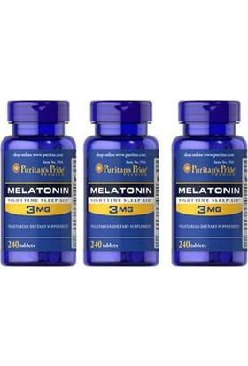 Swansong Puritan's Pride Melatonin 3 Mg 240 Tablet 3 Kutu