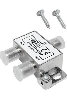 Alfais 4818 2 li Uydu Çanak Splitter Kablo TV Rg6 Anten Çoklayıcı Dağıtıcı