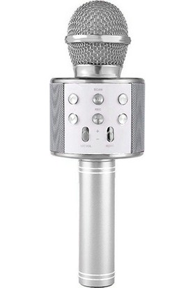 Wster Ws-858 Wireles Karaoke Mikrofon Bluetooth Hoparlör