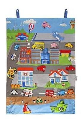 Montessori Cırtlı Kumaş Taşıtlar Pano
