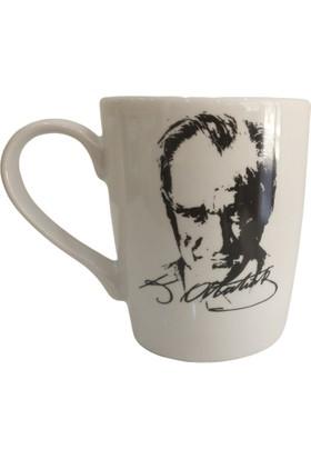 Evanilife Kupa Bardak Atatürk İmza Ve Silüetli