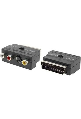 Etc 3rca To Scart Audio Video Adaptör in-Out Anahtarli