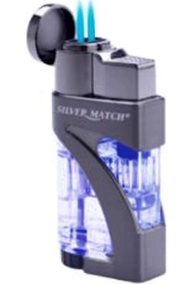 Silver Match 2 Alev Puro Çakmağı Mavi