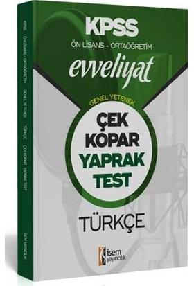 İsem Yayıncılık 2020 Evveliyat Kpss Genel Yetenek Ortaöğretim Ön Lisans Türkçe Çek Kopar Yaprak Test