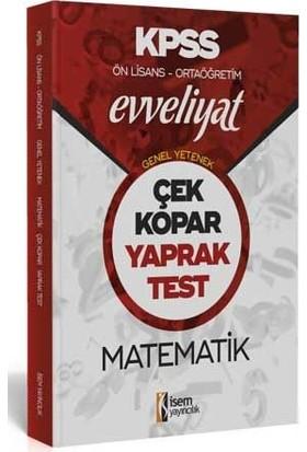 İsem Yayıncılık 2020 Evveliyat Kpss Genel Yetenek Ortaöğretim Ön Lisans Matematik Çek Kopar Yaprak Test