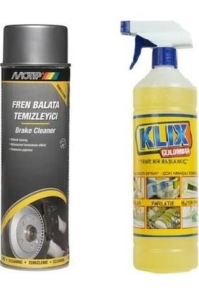 Motip Fren Balata Temizleyici 500 ml + Klix Colombia Çok Amaçlı Genel Temizleyici 1 lt