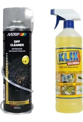 Motip Partikül Filtre Temizleme Sprey ( Dizel) - Dpf Cleaner+ Klix Colombia Çok Amaçlı Genel Temizleyici 1 lt