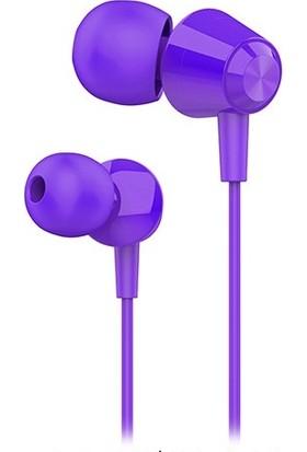 Hytech HY-XK30 Mobil Uyumlu Mor Kulak İçi Mikrofonlu Kulaklık