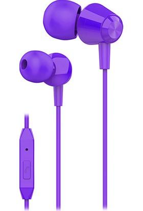 S-link SL-KU160 Mobil Uyumlu Mor Kulak İçi Mikrofonlu Kulaklık