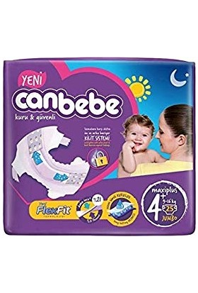 Canbebe Süper Eko Maxi Plus 4+ Beden 9-16 kg 25 Adet