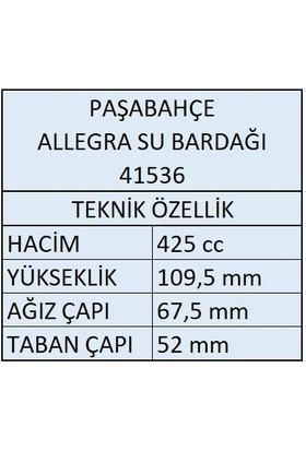 Paşabahçe 41536 Allegra Su Bardağı - 6 Adet