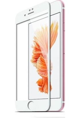 Melikzade Apple iPhone 8 Tam Kaplayan 5D Ekran Koruyucu Cam Beyaz