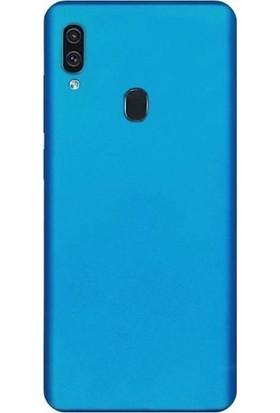 Melikzade Samsung Galaxy A30 İnce Mat Silikon Kılıf Mavi