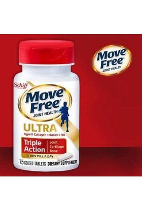 Schiff Move Free Ultra Triple Action 75 Coated Tablets (Type 2 Collagen)