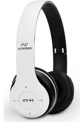 Blue Inter P47 Bluetooth Kulaklık 5.0 - Beyaz