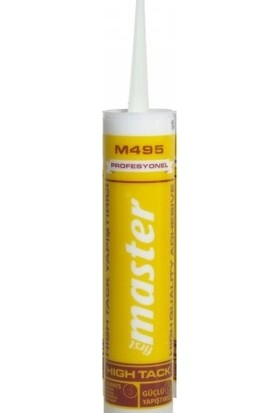 First Master M495 Profesyonel High Tack Yapıştırıcı Korniş Yapıştırıcı 290 ml 495 g
