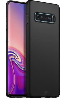 Mahtex Samsung Galaxy S10 Plus Silikon Kılıf Siyah