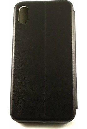 Arma Apple iPhone X Max Kapaklı Kılıf + Kırılmaz Ekran Filmi - Siyah