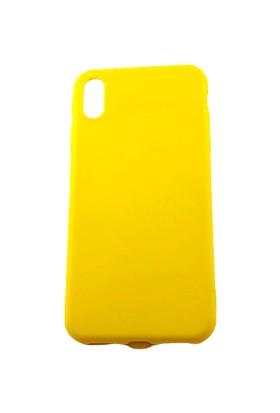 Arma Apple iPhone X Max Kılıf + Kırılmaz Ekran Koruyucu - Sarı