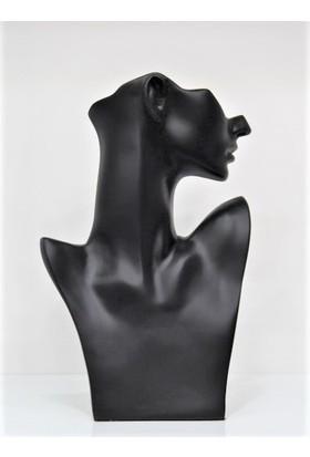 Aydın Dekor Yeni Polyester Boyalı Siyah Kolye Küpe Manken