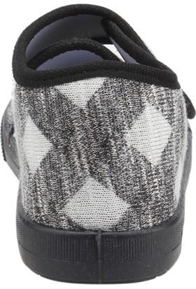 Sanbe 106P124 Okul Kreş Kız/erkek Çocuk Keten Panduf Ayakkabı Siyah