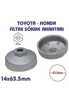 UygunShop Toyota Honda Yağ Filtre Sökme Anahtarı 14 Köşe 63,5 mm