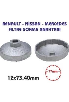 UygunShop Renault 1.5 Dci, 1.6 Benzinli, Mercedes Nissan Hyundai Yağ Filtre Sökme -12 x 73,40 mm