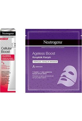 Neutrogena Cellular Boost Kırışıklık Karşıtı Konsantre Bakım 30 ml + Ageless Boost Hidrojel Gençlik Maskesi 30 ml