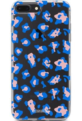 """Caselab Apple iPhone 7 Plus / 8 Plus """"Cheetah Blue"""" Tasarımlı Şeffaf Kılıf"""